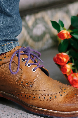 Shoe with Purple Laces_Right